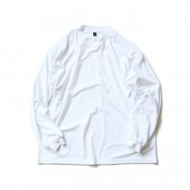 SMOKE T ONE / Dry Pique Mock Neck L/S ドライ鹿の子モックネック長袖Tシャツ - White<img class='new_mark_img2' src='https://img.shop-pro.jp/img/new/icons47.gif' style='border:none;display:inline;margin:0px;padding:0px;width:auto;' />