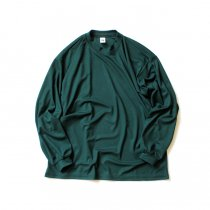 SMOKE T ONE / Dry Pique Mock Neck L/S ドライ鹿の子モックネック長袖Tシャツ - Green<img class='new_mark_img2' src='https://img.shop-pro.jp/img/new/icons20.gif' style='border:none;display:inline;margin:0px;padding:0px;width:auto;' />