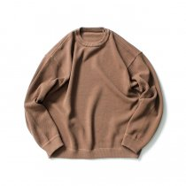 crepuscule / 2003-001 Moss stitch L/S sweat - L.Brown 鹿の子編みクルーネックプルオーバー ライトブラウン<img class='new_mark_img2' src='https://img.shop-pro.jp/img/new/icons47.gif' style='border:none;display:inline;margin:0px;padding:0px;width:auto;' />