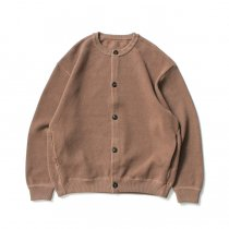 crepuscule / 2003-002 Moss stitch crew cardigan - L.Brown 鹿の子編みクルーネックカーディガン ライトブラウン<img class='new_mark_img2' src='https://img.shop-pro.jp/img/new/icons47.gif' style='border:none;display:inline;margin:0px;padding:0px;width:auto;' />