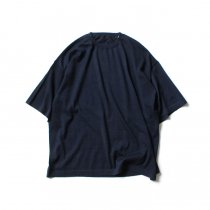 crepuscule / 2003-008 Cashmere t-sh - Navy カシミアニットTシャツ ネイビー<img class='new_mark_img2' src='https://img.shop-pro.jp/img/new/icons47.gif' style='border:none;display:inline;margin:0px;padding:0px;width:auto;' />