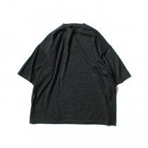crepuscule / 2003-008 Cashmere t-sh - C.Gray カシミアニットTシャツ チャコールグレー<img class='new_mark_img2' src='https://img.shop-pro.jp/img/new/icons20.gif' style='border:none;display:inline;margin:0px;padding:0px;width:auto;' />