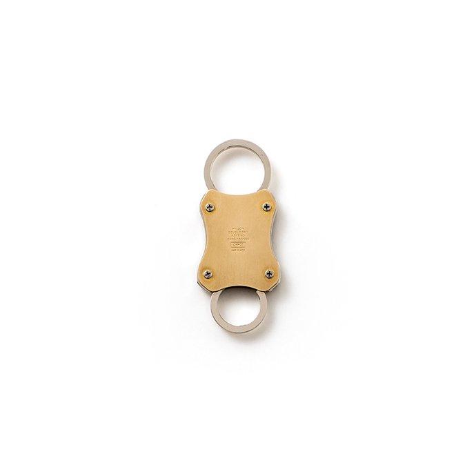 154091300 CANDY DESIGN & WORKS / Wilson CHW-05 スプリング式キーリング - Nickel×Brass 01