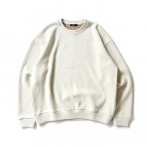 CRESPI / Lambswool/Cotton Crew Neck - Ivory ラムズウールコットン クルーネックカットソー アイボリー<img class='new_mark_img2' src='https://img.shop-pro.jp/img/new/icons47.gif' style='border:none;display:inline;margin:0px;padding:0px;width:auto;' />