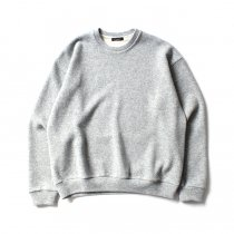 CRESPI / Lambswool/Cotton Crew Neck - Grey ラムズウールコットン クルーネックカットソー グレー<img class='new_mark_img2' src='https://img.shop-pro.jp/img/new/icons47.gif' style='border:none;display:inline;margin:0px;padding:0px;width:auto;' />