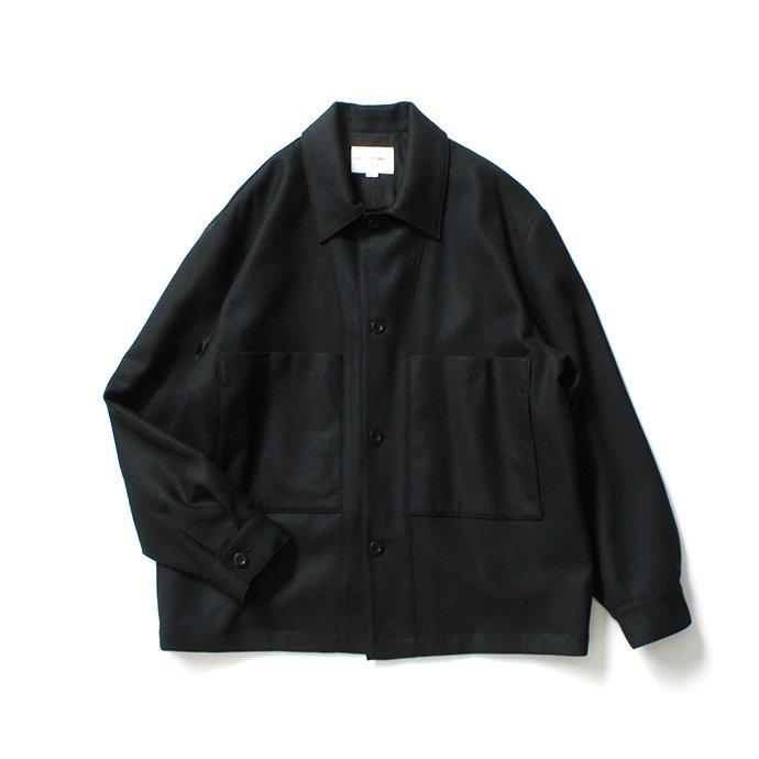 154686913 STILL BY HAND / BL02204 ウール カバーオールジャケット - Black 01