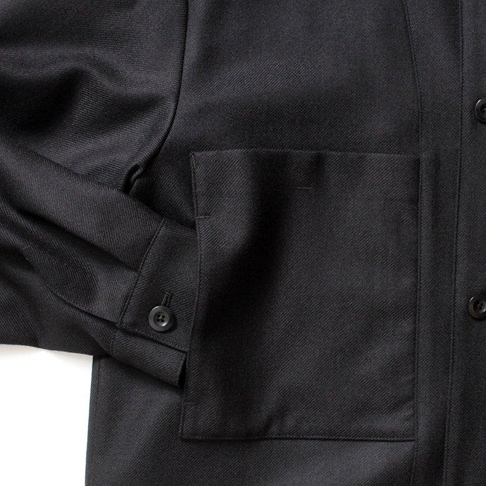 154686913 STILL BY HAND / BL02204 ウール カバーオールジャケット - Black 02