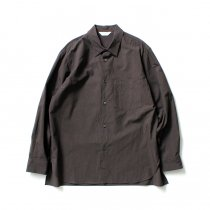STILL BY HAND / SH04204 ブロード レギュラーカラーシャツ - Dark Brown<img class='new_mark_img2' src='https://img.shop-pro.jp/img/new/icons20.gif' style='border:none;display:inline;margin:0px;padding:0px;width:auto;' />