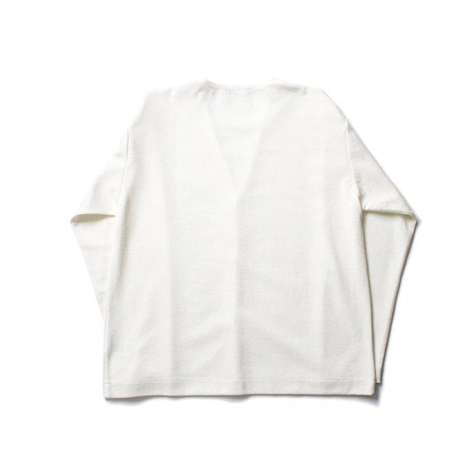 154925662 STILL BY HAND / CS02204 ミラノリブ Vネックカーディガン - Off White 02