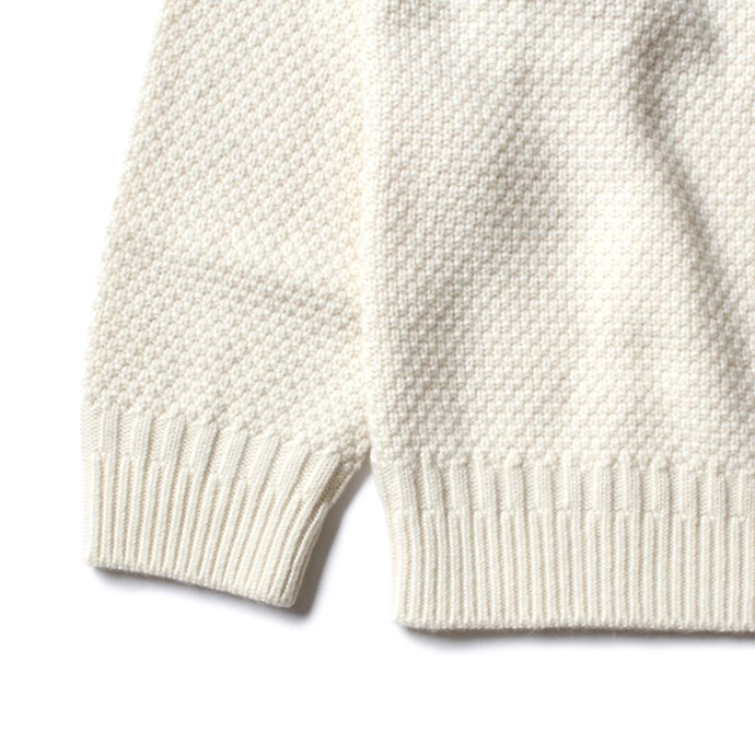155238500 STILL BY HAND / KN05204 アルパカ混Vネックセーター - Off White 02