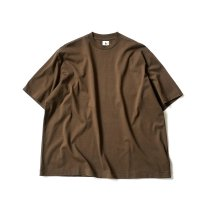 blurhms ROOTSTOCK / Silk Cotton 20/80 Crew-neck BIG S/S - KhakiBrown シルクコットンビッグTシャツ ROOTS2106