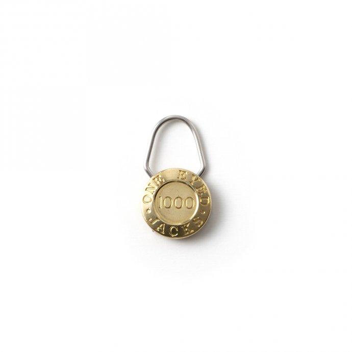 156339727 CANDY DESIGN & WORKS / One Eyed Jacks CK-24 キーリング - Brass 01