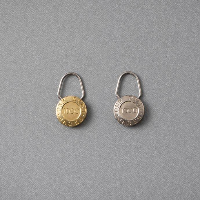 156339727 CANDY DESIGN & WORKS / One Eyed Jacks CK-24 キーリング - Brass 02
