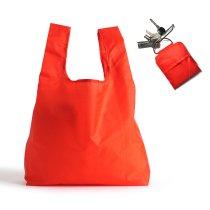 KIKKERLAND / Key Ring Shopping Bag - Red キーリング ショッピングバッグ レッド