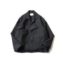 STILL BY HAND / BL01211 ウールリネン カバーオールジャケット - Black