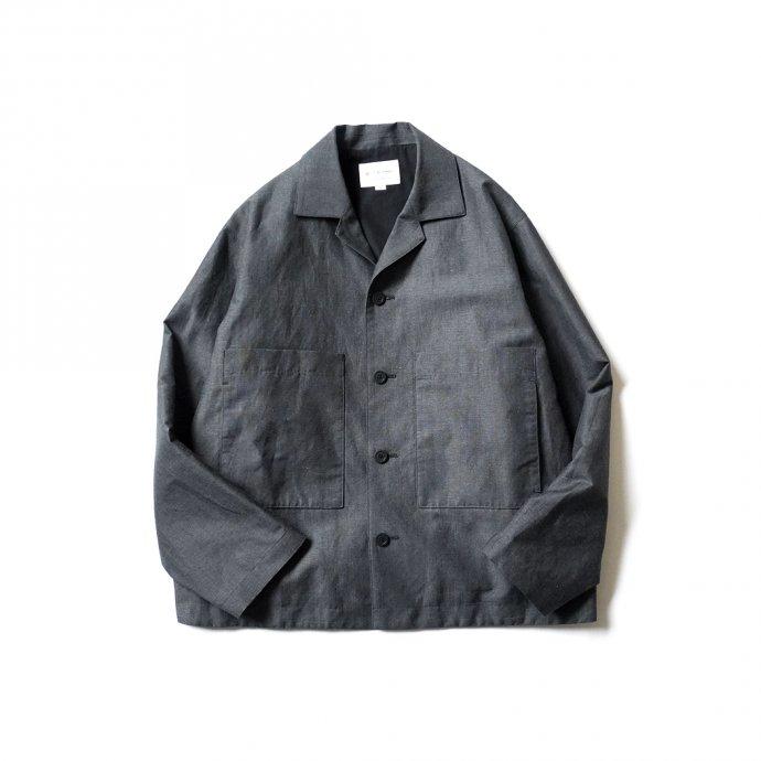 157502191 STILL BY HAND / BL01211 ウールリネン カバーオールジャケット - Charcoal 01
