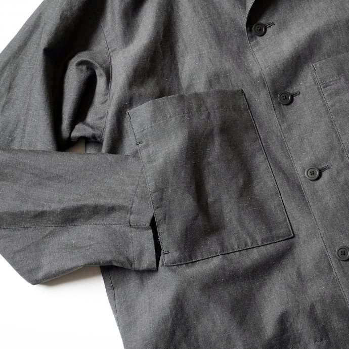 157502191 STILL BY HAND / BL01211 ウールリネン カバーオールジャケット - Charcoal 02