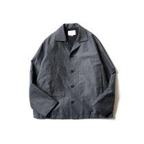 STILL BY HAND / BL01211 ウールリネン カバーオールジャケット - Charcoal
