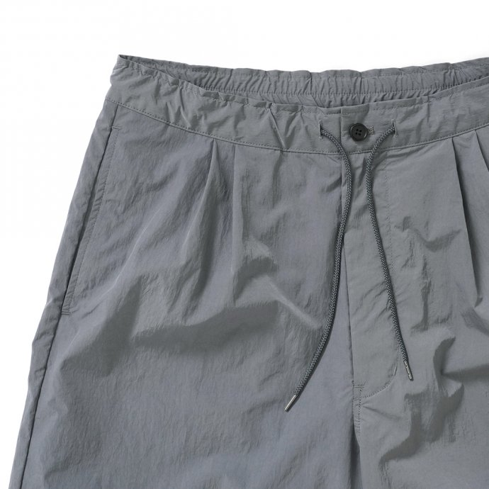 157529795 STILL BY HAND / PT10211 ナイロンイージーショーツ - Slate Grey 02