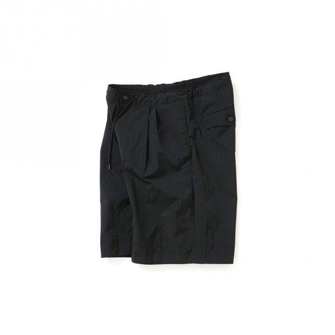157529996 STILL BY HAND / PT10211 ナイロンイージーショーツ - Black 02
