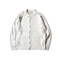 crepuscule / 2101-006 KNIT SHIRT - L.Gray ニットシャツ ライトグレー