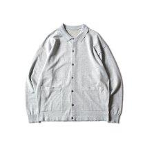 crepuscule / 2101-006 KNIT SHIRT - Gray ニットシャツ グレー
