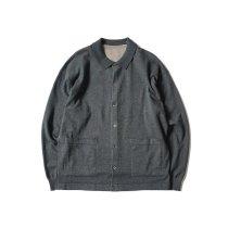 crepuscule / 2101-006 KNIT SHIRT - C.Gray ニットシャツ チャコール
