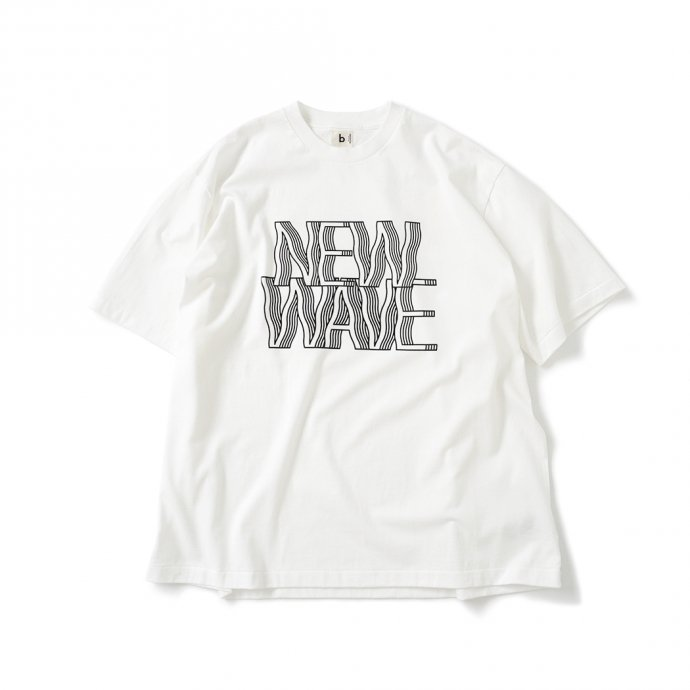 157870226 blurhms ROOTSTOCK / NEW WAVE Tee BIG ROOTS2119S21-C - White ニューウェイヴTシャツ ホワイト 01