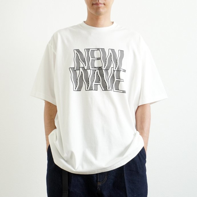 157870226 blurhms ROOTSTOCK / NEW WAVE Tee BIG ROOTS2119S21-C - White ニューウェイヴTシャツ ホワイト 02