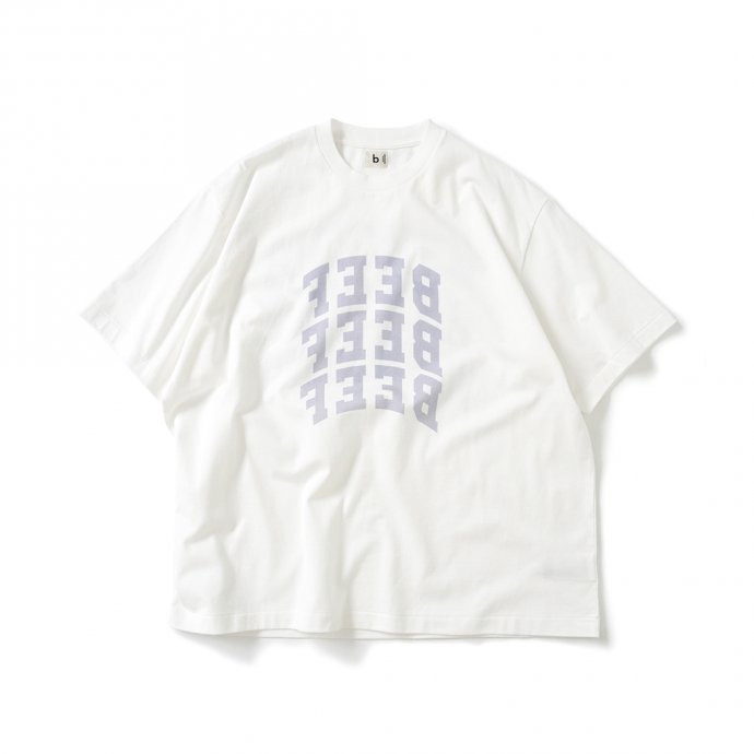 157871076 blurhms ROOTSTOCK / BEEF or CHICKEN Tee BIG ROOTS2119S21-E - White ビーフオアチキンTシャツ ホワイト 01