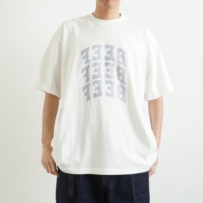 157871076 blurhms ROOTSTOCK / BEEF or CHICKEN Tee BIG ROOTS2119S21-E - White ビーフオアチキンTシャツ ホワイト 02
