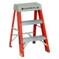 Louisville Ladder / ファイバーステップ オレンジ 耐荷重135kg 2ft(60cm)2-Foot Fiberglass Step Stool FS1502
