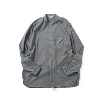 STILL BY HAND / SH04211 シルク混 バンドカラー プルオーバーシャツ - Grey