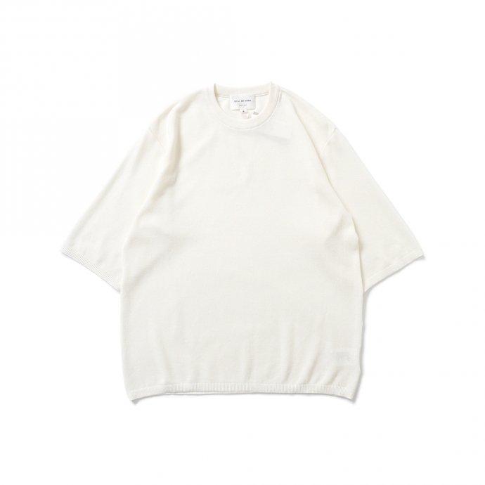 STILL BY HAND / KN04211 シルク混 ニットTシャツ - Off White