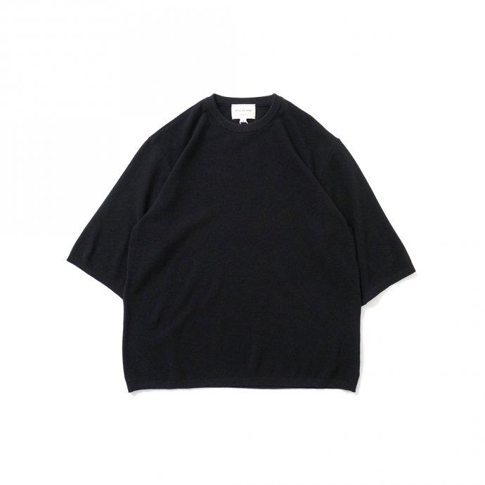 STILL BY HAND / KN04211 シルク混 ニットTシャツ - Black