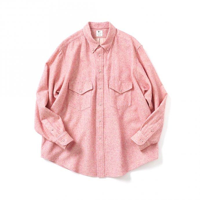 O-(オー)/ C/S B.D. SHIRT コットンシルクボタンダウンシャツ 21S-05 Heather Red