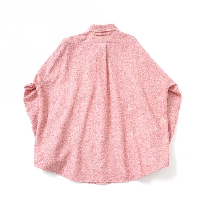 158344862 O-(オー)/ C/S B.D. SHIRT コットンシルクボタンダウンシャツ 21S-05 Heather Red 02