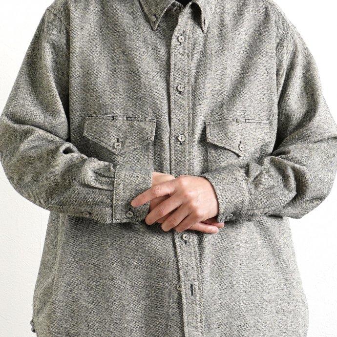 158345114 O-(オー)/ C/S B.D. SHIRT コットンシルクボタンダウンシャツ 21S-05 Heather Black 02