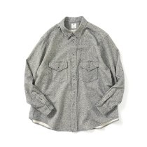 O-(オー)/ C/S B.D. SHIRT コットンシルクボタンダウンシャツ 21S-05 Heather Black