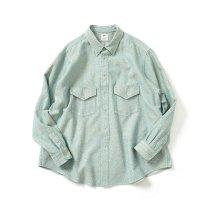 O-(オー)/ C/S B.D. SHIRT コットンシルクボタンダウンシャツ 21S-05 Heather Blue