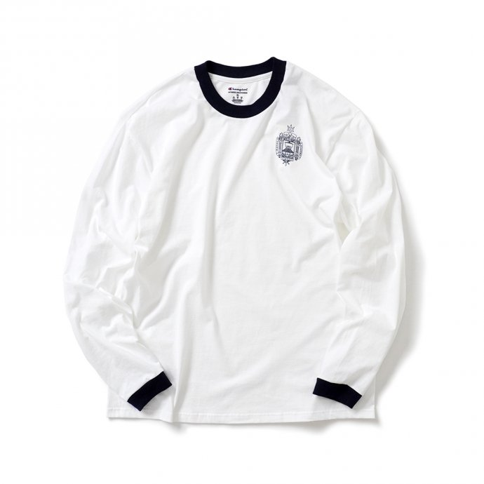 158724544 USNA / Official Midshipmen Blue Rim L/S Tee Manufactured by Champion ロングスリーブTシャツ 01