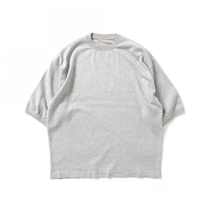 crepuscule / 2101-007 S/S KNIT - Gray 半袖ニット グレー