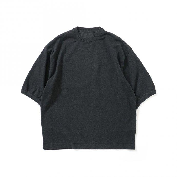 158730918 crepuscule / 2101-007 S/S KNIT - C.Gray 半袖ニット チャコールグレー 01