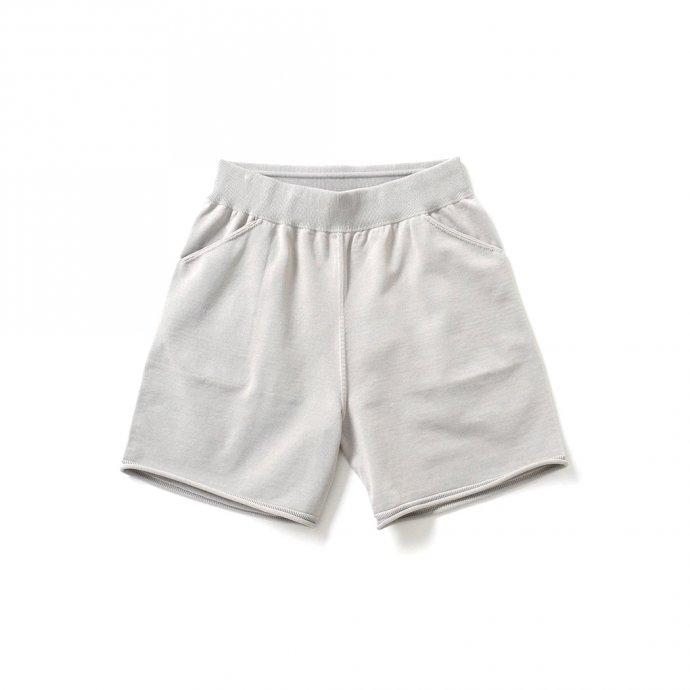 158731100 crepuscule / 2101-011 SHORT PANTS - L.Gray ニットショーツ ライトグレー 01