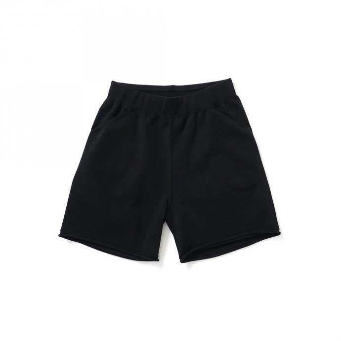 158731116 crepuscule / 2101-011 SHORT PANTS - Black ニットショーツ ブラック 01