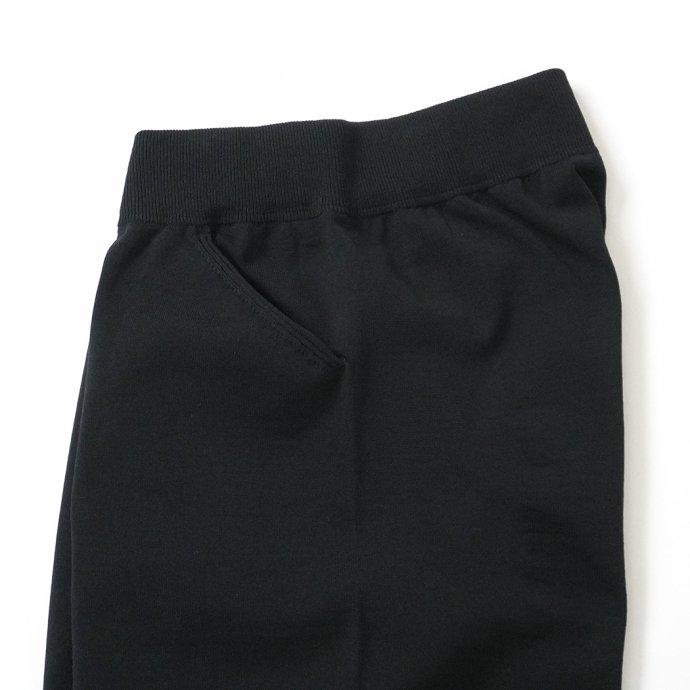 158731116 crepuscule / 2101-011 SHORT PANTS - Black ニットショーツ ブラック 02