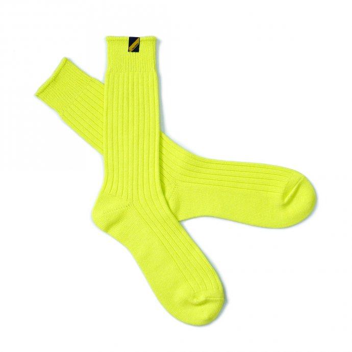 158784798 Trad Marks / Old Rib Socks lite オールドリブソックスライト - Neon Yellow ネオンイエロー 02