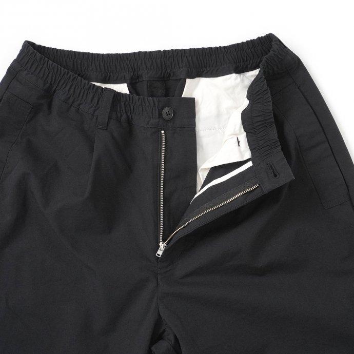 158793515 STILL BY HAND / PT04212 シルク混 ワンタックイージーパンツ - Black 02