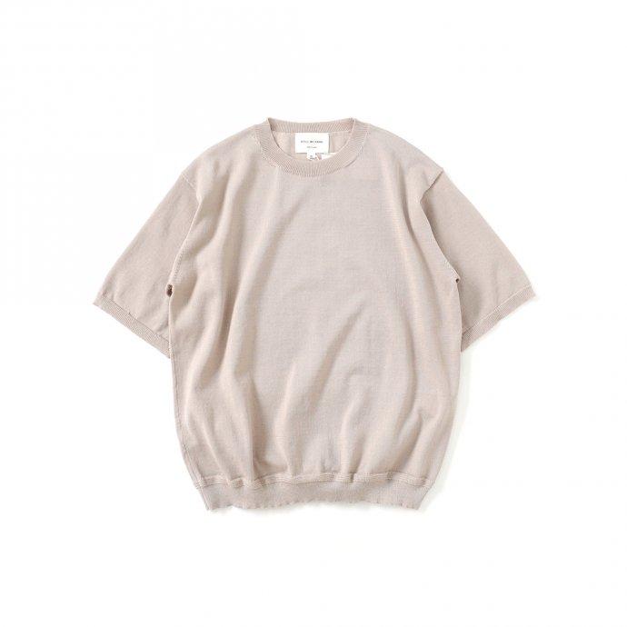 159019985 STILL BY HAND / KN03212 ニットTシャツ - Beige 01