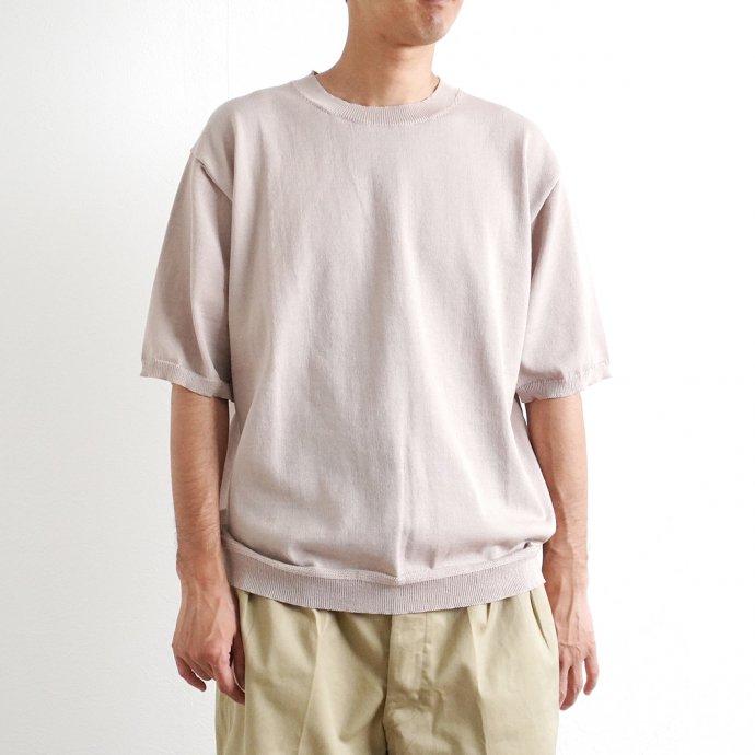 159019985 STILL BY HAND / KN03212 ニットTシャツ - Beige 02